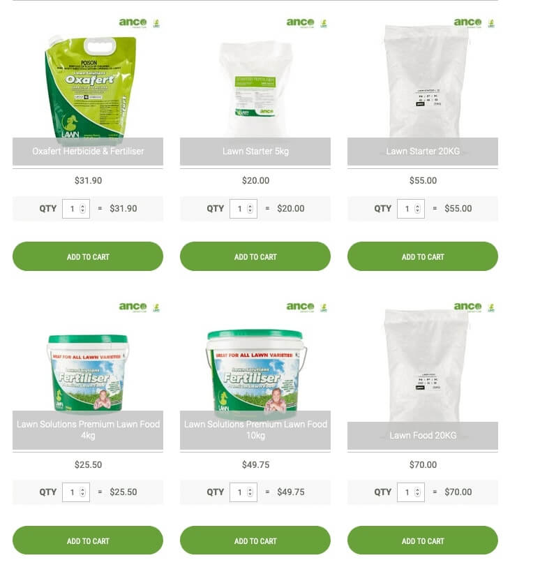Our Range of Lawn Fertilisers