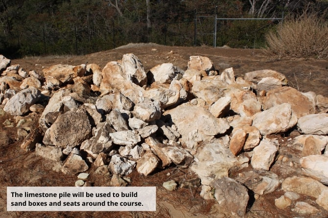 The limestone pile
