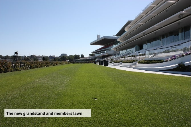 The new grandstand and members lawn