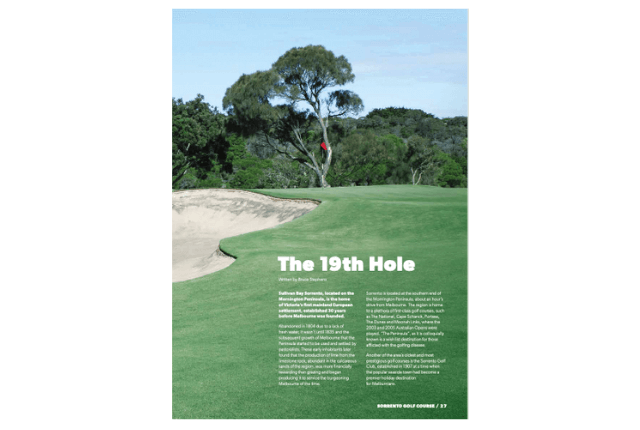 Sorrento Golf Club – The 19th Hole